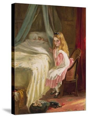 Shhhh!-George Bernard O'neill-Stretched Canvas Print