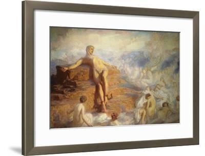Prometheus Consoled by the Spirits of the Earth-George Spencer Watson-Framed Giclee Print
