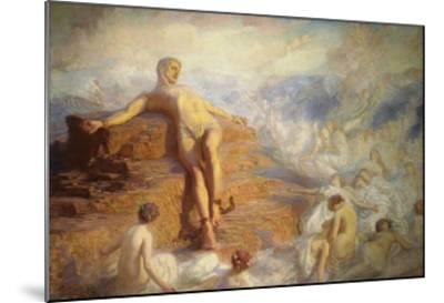 Prometheus Consoled by the Spirits of the Earth-George Spencer Watson-Mounted Giclee Print