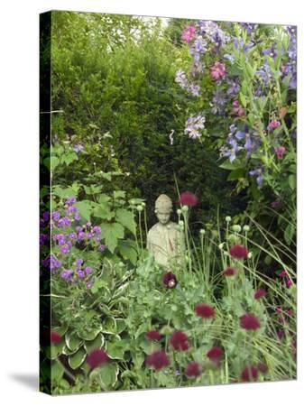 Small Statue in a Back Garden-Mark Bolton-Stretched Canvas Print