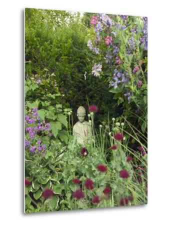Small Statue in a Back Garden-Mark Bolton-Metal Print