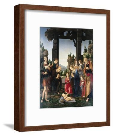 Adoration of the Shepherds-Lorenzo di Credi-Framed Giclee Print
