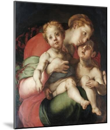 Madonna and Child with the Young St. John-Pontormo-Mounted Giclee Print
