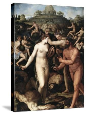 Hercules and the Muses-Alessandro Allori-Stretched Canvas Print