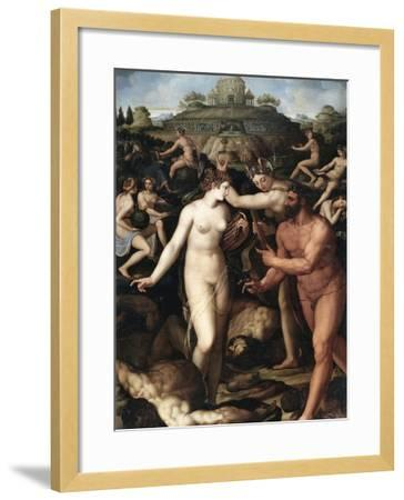 Hercules and the Muses-Alessandro Allori-Framed Giclee Print