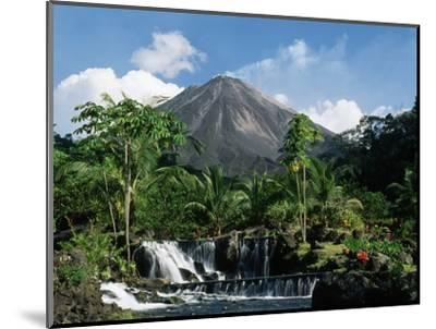 Tabacon Hot Springs and Volcan Arenal-Kevin Schafer-Mounted Premium Photographic Print