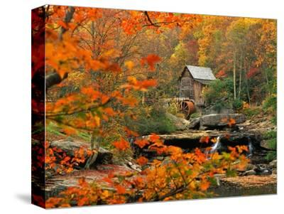 Glade Creek Grist Mill-Ron Watts-Stretched Canvas Print