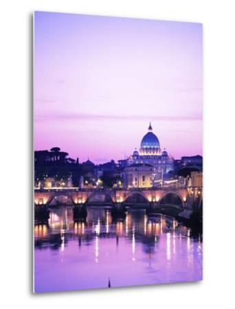 Sant'Angelo Bridge over Tiber River-Dennis Degnan-Metal Print
