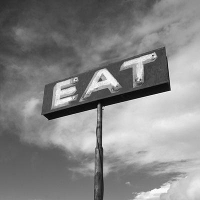 "Vintage ""Eat"" Restaurant Sign-Aaron Horowitz-Stretched Canvas Print"