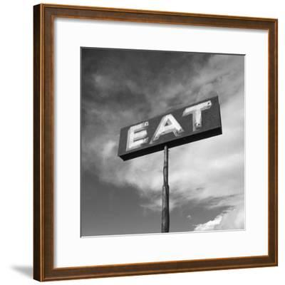 "Vintage ""Eat"" Restaurant Sign-Aaron Horowitz-Framed Premium Photographic Print"