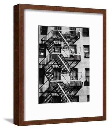 Fire Escape on Apartment Building-Henry Horenstein-Framed Premium Photographic Print