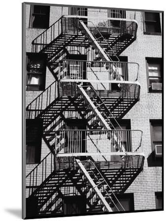 Fire Escape on Apartment Building-Henry Horenstein-Mounted Premium Photographic Print