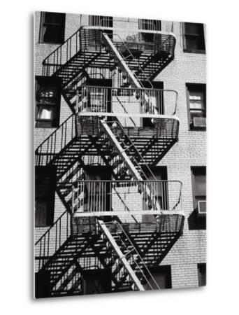 Fire Escape on Apartment Building-Henry Horenstein-Metal Print
