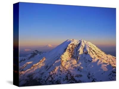 Aerial View of Mount Rainier-Bill Ross-Stretched Canvas Print