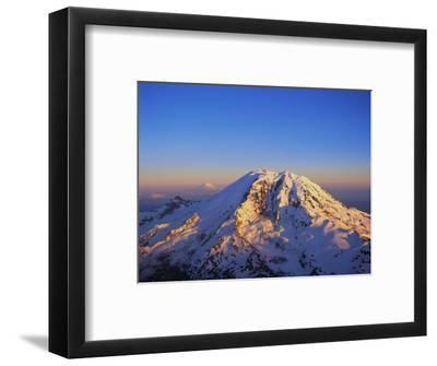 Aerial View of Mount Rainier-Bill Ross-Framed Premium Photographic Print