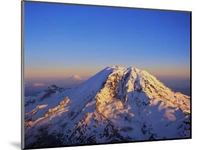 Aerial View of Mount Rainier-Bill Ross-Mounted Premium Photographic Print