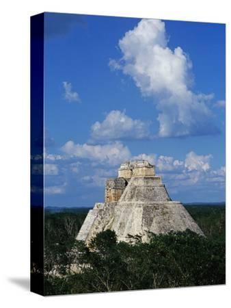 Pyramid of the Magician at Uxmal-Danny Lehman-Stretched Canvas Print