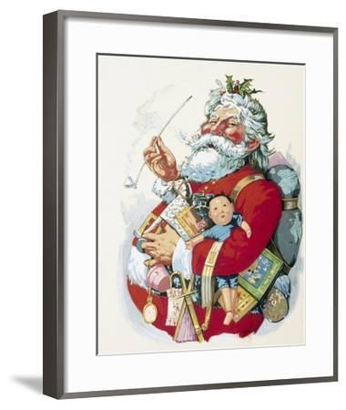 Merry Old Santa Claus Giclee Print by Thomas Nast | Art.com