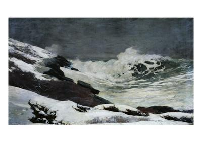 Winter Coast-Winslow Homer-Framed Giclee Print