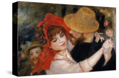 Detail of Dancing Couple from Le Bal a Bougival-Pierre-Auguste Renoir-Stretched Canvas Print