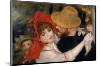 Detail of Dancing Couple from Le Bal a Bougival-Pierre-Auguste Renoir-Mounted Premium Giclee Print