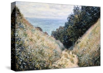 Road at La Cavee, Pourville-Claude Monet-Stretched Canvas Print