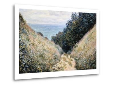 Road at La Cavee, Pourville-Claude Monet-Metal Print