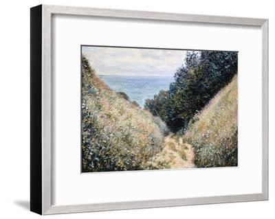 Road at La Cavee, Pourville-Claude Monet-Framed Giclee Print