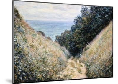 Road at La Cavee, Pourville-Claude Monet-Mounted Giclee Print