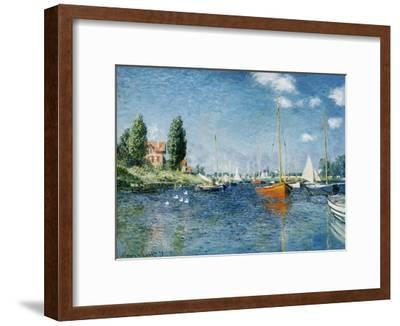 Red Boats, Argenteuil-Claude Monet-Framed Giclee Print