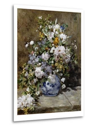 Spring Bouquet-Pierre-Auguste Renoir-Metal Print