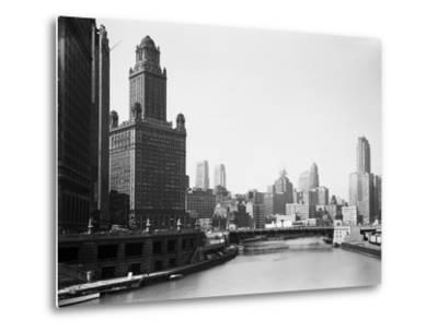 Chicago Skyline and River-Bettmann-Metal Print