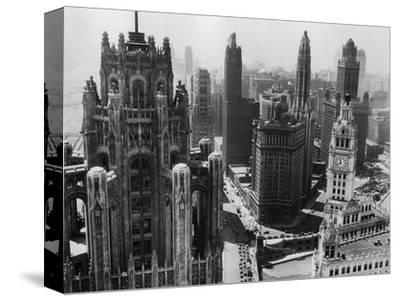Chicago Skyscrapers in the Early 20th Century-Bettmann-Stretched Canvas Print