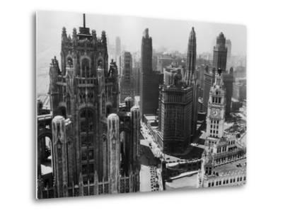 Chicago Skyscrapers in the Early 20th Century-Bettmann-Metal Print