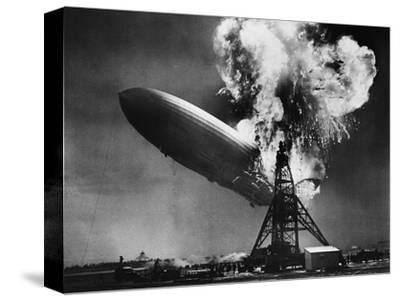 Hindenburg Explosion-Bettmann-Stretched Canvas Print