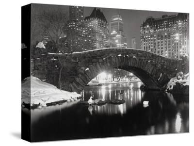 New York Pond in Winter-Bettmann-Stretched Canvas Print