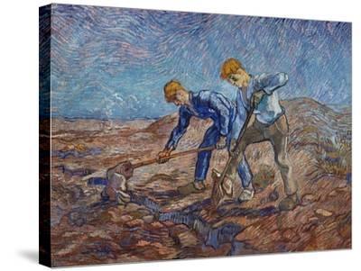 The Diggers-Vincent van Gogh-Stretched Canvas Print