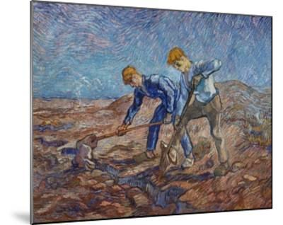 The Diggers-Vincent van Gogh-Mounted Giclee Print