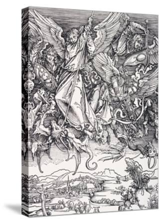 St. Michael Slaying the Dragon-Albrecht D?rer-Stretched Canvas Print