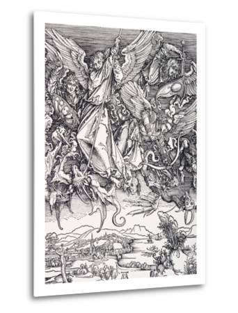 St. Michael Slaying the Dragon-Albrecht D?rer-Metal Print
