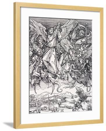 St. Michael Slaying the Dragon-Albrecht D?rer-Framed Giclee Print