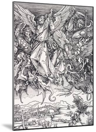 St. Michael Slaying the Dragon-Albrecht D?rer-Mounted Giclee Print