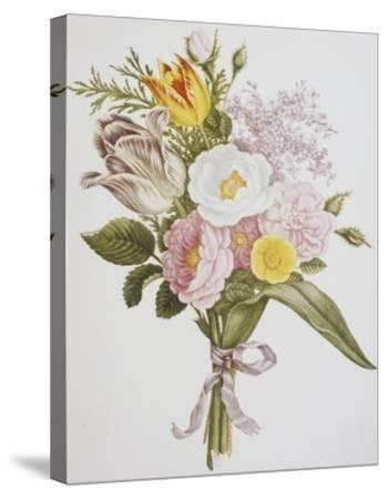 Still Life of Lilacs, Roses, Buttercups and Lilies of the Valley by Jean Louis Prevost-Bettmann-Stretched Canvas Print