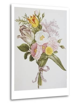 Still Life of Lilacs, Roses, Buttercups and Lilies of the Valley by Jean Louis Prevost-Bettmann-Metal Print