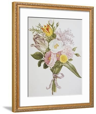 Still Life of Lilacs, Roses, Buttercups and Lilies of the Valley by Jean Louis Prevost-Bettmann-Framed Giclee Print