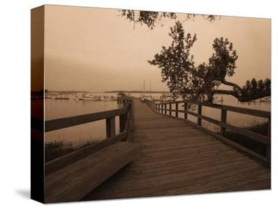 Bridge Leading to Pier-Guy Cali-Stretched Canvas Print