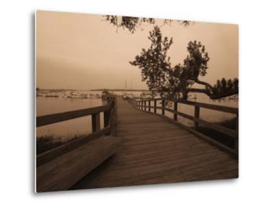 Bridge Leading to Pier-Guy Cali-Metal Print