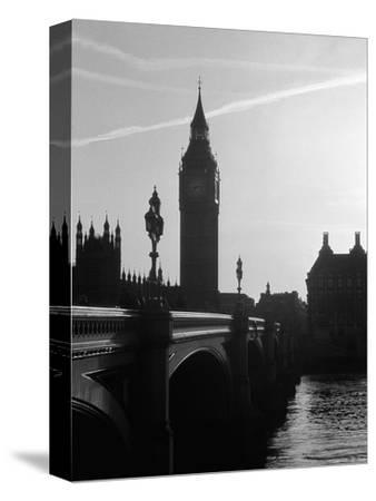 View of Big Ben from Across the Westminster Bridge-Jack Hollingsworth-Stretched Canvas Print