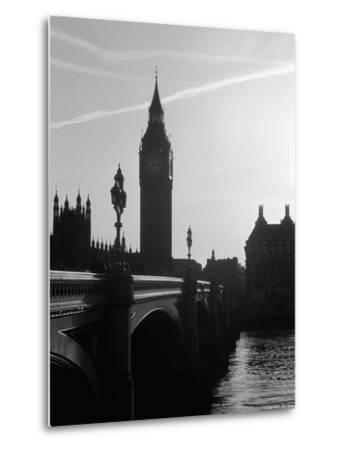 View of Big Ben from Across the Westminster Bridge-Jack Hollingsworth-Metal Print