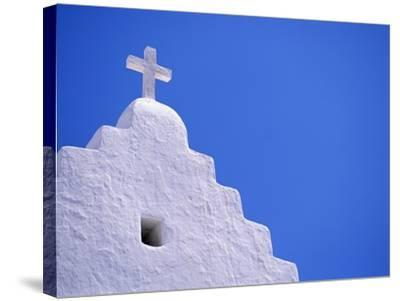 Old Church in Mikonos-David Ball-Stretched Canvas Print